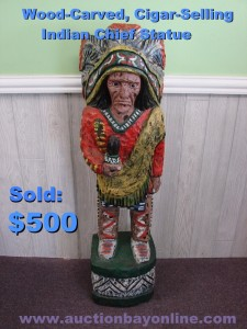 This 4-foot tall wooden statue brought a $500 sale on eBay!